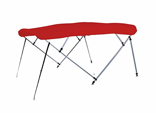 Buy Bargain 7 oz RED 4 Bow Square Tube Boat Bimini TOP with Running Light Cutout Sunshade for Bennin...
