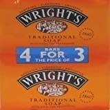 THREE PACKS of Wrights Coal Tar Soap 4 Pack