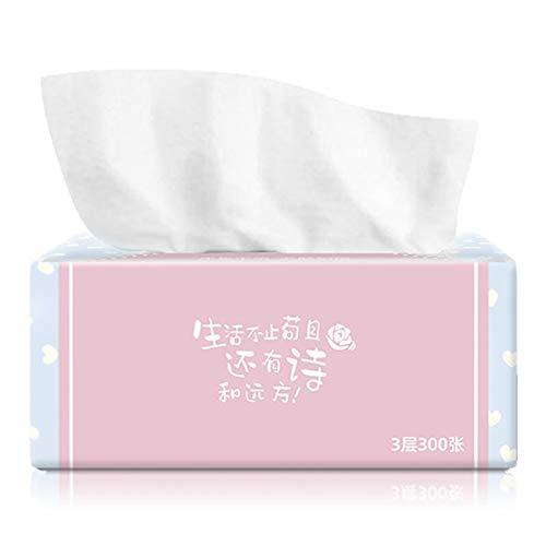 Lanceasy 4 verpakkingen, 3-laags gezichtsdoek, 300 zakdoeken per verpakking 1200 zakdoeken in totaal, zacht voor de badkamer