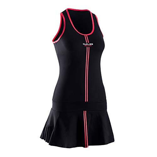 Duruss Vestido con Tirantes y Minishort, Mujeres, Negro, M