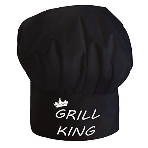 Personalisierte Kochmütze Für Frauen und Männer Kochhaube mit Klettverschluss Ideal für BBQ Restaurant Kochen zum Grillen Grill-König [108]