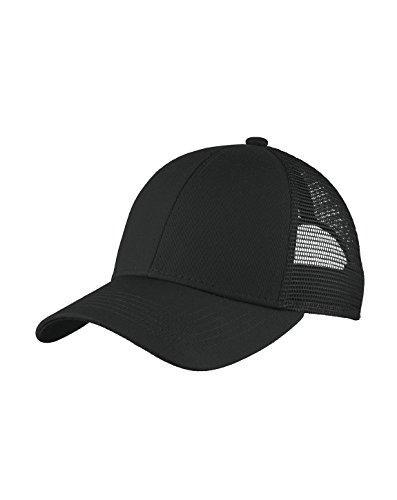 Port Authority Men's Adjustable Mesh Back Cap, Black, One Size