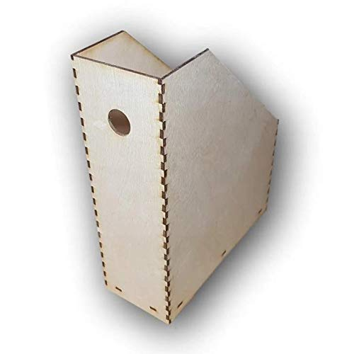 Net4Client Estante de madera para archivos de escritorio fino (contrachapado)