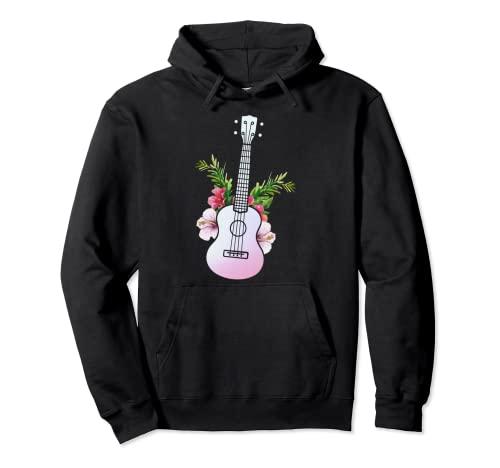Ukelele Guitarra Hawaii - Instrumento Hawaiano Ukulele Sudadera con Capucha
