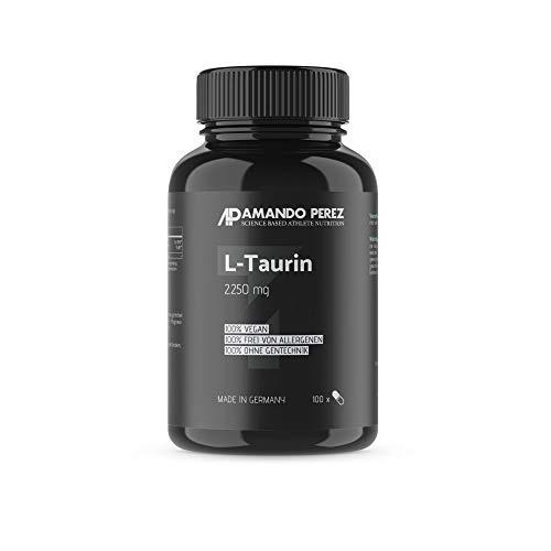L-Taurin 2250 mg pro Portion • 100 Kapseln • Schlüssel-Aminosäure • Bioverfügbar • Hochdosiert