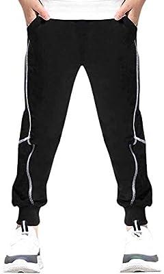 EULLA Boy's Fashion Casual Cotton Sweatpants Slim Fit Athletic Drawstring Jogger Pants