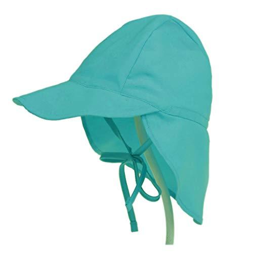 NUEEUDD Verano Niño Bebé Protección Solar Nadar Sombrero de Playa Sombrero Plegable Plegable para Exteriores con Tapa de Barbilla Barbilla Verde #