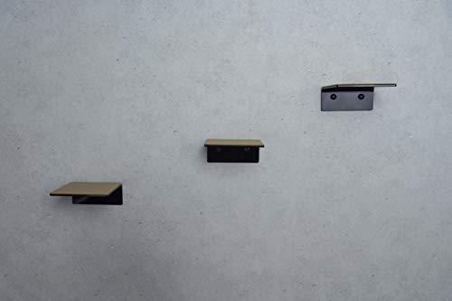 trelixx sehr kleine Katzentreppe Katzenstufen Mini aus schwarzem Plexiglas®/Acrylglas Hochglanz, dreistufig, für kleine Katzen, Größe: 14 x 15 cm belastbar bis 5 kg, mit abwaschbaren Korkauflagen