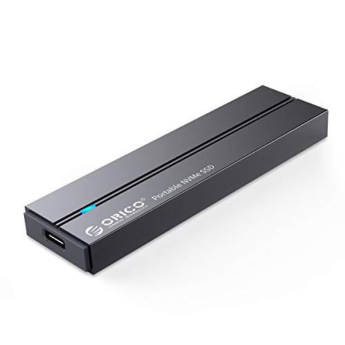 ORICO Extreno SSD Portatile Velocità di Lettura Fino a 940 MB/s, Unità a Stato Solido Portatile con M.2 NVME 3D NAND,USB 3.1 Gen 2 Tipo C,Compatibile per Mac,Latop,Desktop,Tablet,Tlefoni Android-BV300
