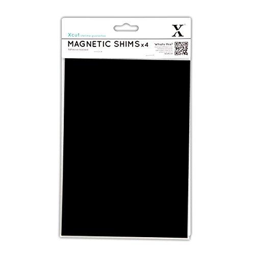 Xcut XCU 268013 - Fogli magnetici per riporre Fustelle, Formato A5, con Dorso Adesivo, 4 Pezzi