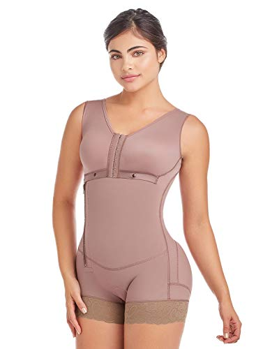 DELIÉ by Fajas DPrada 09053 Damen Kompressionskleidung nach Liposuction -  Braun -  XX-Small