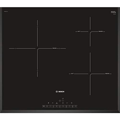 Bosch Serie 6 PIJ651FC1E - Placa de inducción, 60 cm, 17 niveles de potencia, 3 zonas de cocción, Control táctil, Color negro