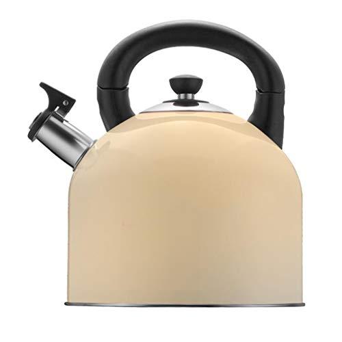 4L Bouilloire 304 En Acier Inoxydable Ouvert Ouvert Sifflet Automatique Théière Des Ménages Convient Pour Poêles À Gaz Cuisinière À Induction (Couleur : D)