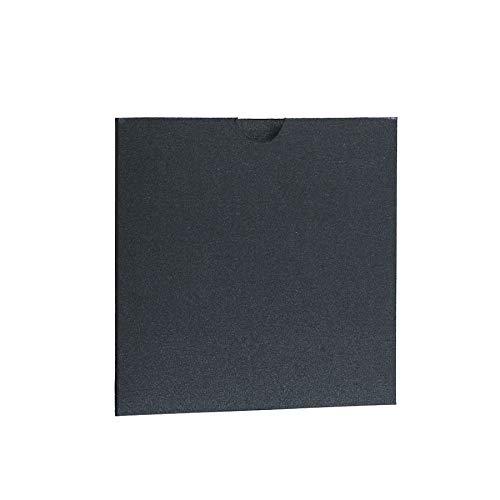 Noir ébène Nacré Portefeuille Invite 145 Mmx145 mm à partir de faire-part invitations Ltd Noir