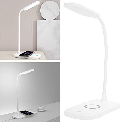 Eulbevoli Edside Light, lámpara de Escritorio Duradera ABS + Material de Silicona Luz USB para Estudiantes para Dormitorio, Estudio, Dormitorio
