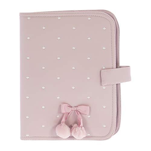 Funda para pañales, toallitas y crema Rosy Fuentes en color rosa empolvado