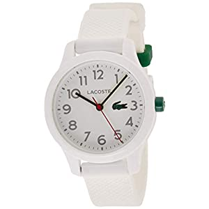 Lacoste Kids 12.12, Quartz TR-90 and Rubber Strap Casual Watch, White, 2030003