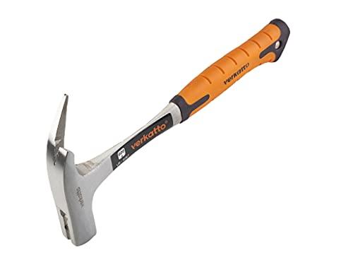 Mivos Latthammer 600 g Kopfgewicht, Ganzstahl geschmiedet / Zimmererhammer mit magnetischem Nagelhalter / Zimmermannshammer mit Anti-Vibration Griff / DIN 7239