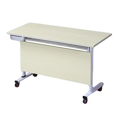 Klapptisch Trainingstisch Konferenztisch Langer Tischstudientisch Multifunktionaler Überrolltisch Mit Riemenscheibe Mobiler Bürocomputertisch 160 *...