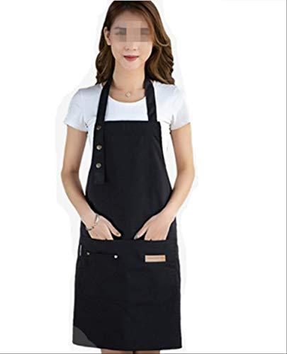 MMBAY Schürze, modische Arbeitskleidung, Segeltuch, für Zuhause, Küche, Nagelgeschäft, Cafe mit Tasche, 2 Kleider