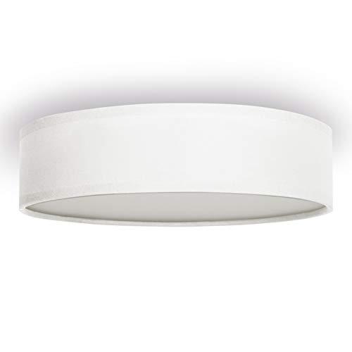 Plafoniera Ranex 6000.542 Mia - 40 cm - Bianco, metallo;metallo/tessuto/plastica
