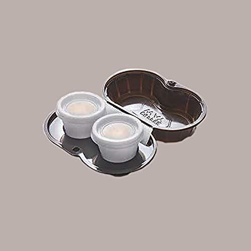 LUCGEL Srl 90 Pz Contenitori Vassoio Porta 2 Caffe COFFEE Take WAY S2 Asporto Marrone Alimentare Food Gastronomia Delivery