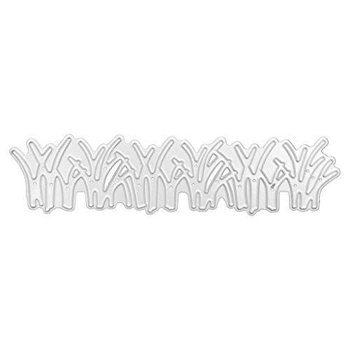 Koehope Stanzformen Gras Stanzschablonen Metall Schneiden Schablonen für DIY Cutting Dies Scrapbooking Album, Schneiden Schablonen Papier Karten Sammelalbum Deko