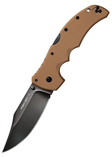Cold Steel 27TLCVB Taschenmesser Recon 1 Clip Point, Sonderedition, Coyote Brown oder Olivgrün Klappmesser Jagdmesser Verkauf ab 18 Jahren (Coyote Brown)