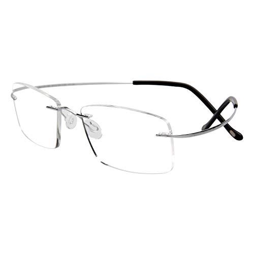 LianSan Titan Randlose Lesebrille Lesen Brille Herren Damen Super leicht Player Sonne Lesebrille 1,0 Herren