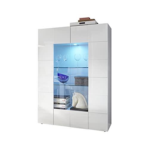 Shiito - Vitrina de 2 Puertas, Fabricado en Color Blanco Lacado. Modelo Dama 209008 06. Diseño Elegante