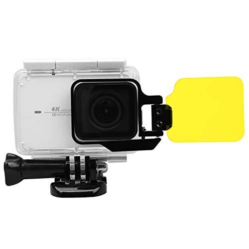 JIANWU Für Gopro DJI Zubehör Xingchen for Xiaomi Xiaoyi Yi II 4K Sport Action Kamera Proffesional Faltbare Wasserdicht Färbte Objektiv-Filter mit Hexangular Spanner (rot) Tätigkeits-Kamera-Zubehör