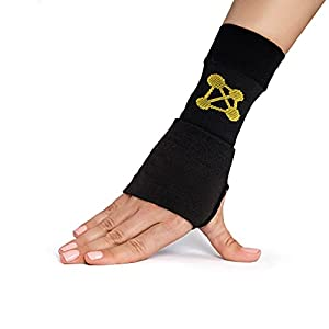 NATURAL RELIEF – Our wrist sleeve provides you with a natural way of managing your pain, meaning no more relying on medication. The copper-infused performance nylon material helps pull electricity from your body's muscles and joints, reducing pain an...