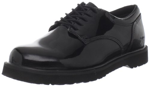 Bates Women's High Gloss Duty Oxford, Black, 7.5 M US