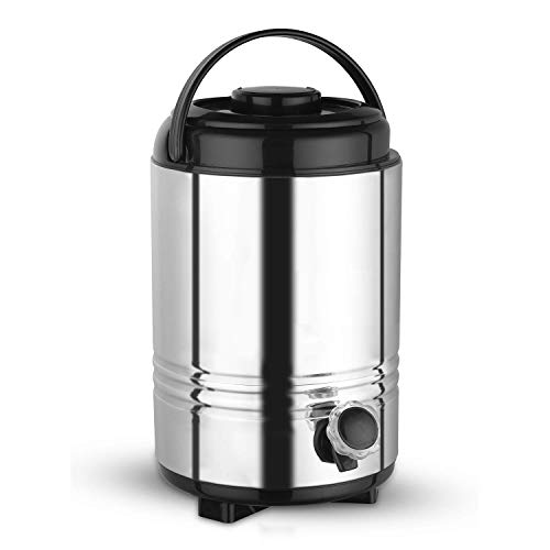 KITCHEN CLUE® Stainless Steel Water Storage Container for Kitchen Office & Home I HOT and Cold Water Jug/Dispenser Carry 5 Liters of Water I Silver Color