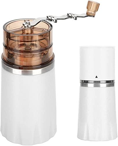 Molinillo de café manual 4 en 1 Máquina de café manual portátil Molino de café molino taza de molienda para oficina en casa y viajes (blanco)