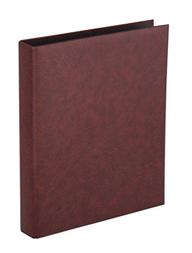 HERMA 7552 Foto Ringalbum Classic bordeaux rot (Format 26,5 x 31,5 cm) 4 Ringe, für max. 30 Blatt/60 Seiten, Kunststoff Vinyl, 1 Fotoalbum Ringbuch dunkelrot