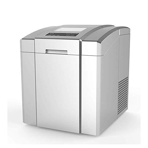 HIZLJJ Comercial del Fabricante de Hielo, Independiente automático portátil del Cubo de Hielo de la máquina, for restaurantes/Bares/Casas/oficinas, 55 lbs / 24h, Acero Inoxidable