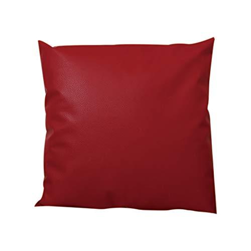 Kissenbezug KissenüberzugFghyh Dekokissenbezüge Kissenbezug Leder Öl Wachs Sofa Stuhl Wohnkultur 45x45cm(RD)