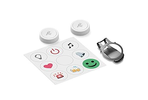 Flic 2 Doppelpack: Zwei Smart Buttons, für Smart Home mit über 1000 Geräten und Diensten kompatibel