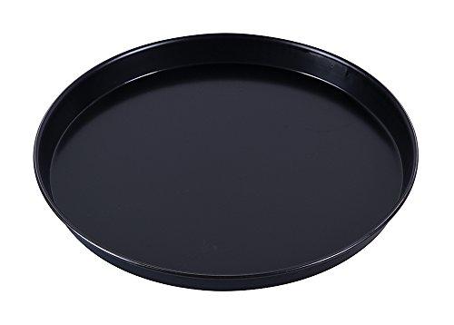 Paderno 11740-30 Teglia rotonda antiaderente per pizza, bordi alti, realizzata in lamiera bluita (ferro blu), resistente fino a 280°, 30 cm ø x 2,5 cm (altez.)