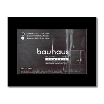 BAUHAUS - Crackle Matted Mini Poster - 21x13.5cm
