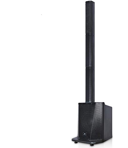 PRORECK Party 10 Portable 10-Inch 500 Watt Line Array Column Powered DJ/PA System Stage Tower Speaker with Bluetooth/USB/SD Card/Remote Control