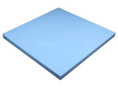 Heiro Schaumstoffplatte Blau 50x50cm Schaumstoff Kissen Schaumstoffpolster - extra formstabil - 3cm dick