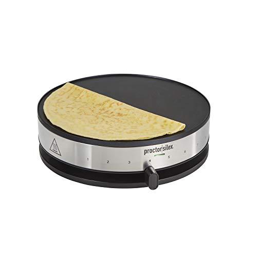 Proctor Silex 38400 Electric Crepe Maker, 13 Inch Griddle & Spatula