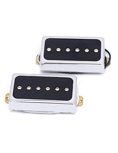 Metallor Humbucker Pickups Bridge and Neck Set for Les Paul P90 Style Electric Guitar. (CR)