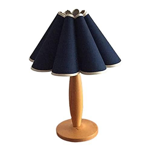 Gazechimp Lámpara de Lectura de Escritorio LED Recargable, luz de Mesa, para el Estudio de los niños Junto a la Cama del Dormitorio con Cortinas Lavables - pétalo Azul