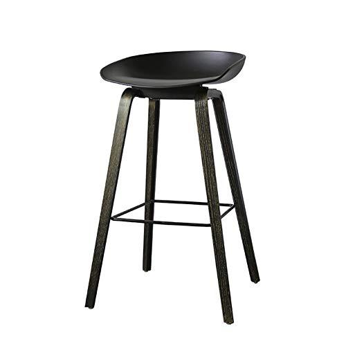 XUEPING barkruk, barstoel, tegen stoel, kruk, keuken, massief hout, restaurantstoel, houder van gebogen hout, hoogte 65/75 cm, 3 kleuren