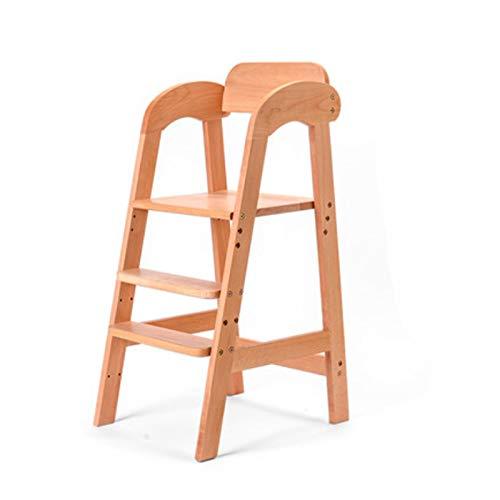 DUTUI Kinder Esszimmerstuhl Großen Baby Massivholz Esstisch Und Stuhl Buche Holz Wachstum Sessellift Haushalt Hohen Hocker Multifunktional