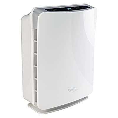 WINIX U300 Air Purifier with True HEPA and active Carbon filter, PlasmaWave for allergies, smokers, dust, odour reduction, silent, up to 66 sqm
