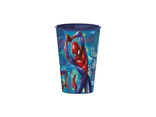 Little Flight Spiderman - Vaso de plástico rígido (1 vaso de plástico rígido)